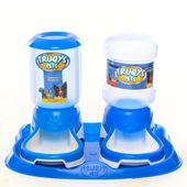 Kit-Comedouro-Bebedouro-Automatico-Truqys-Pets-Azul